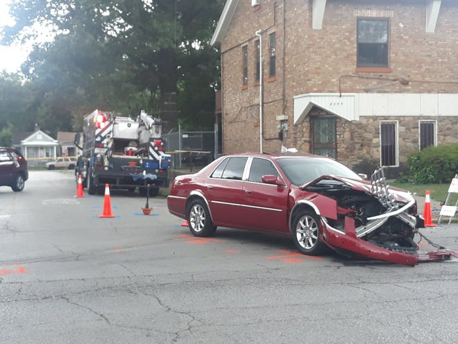 Louisville Metro Police asked the public in a tweet to stay clear of the 23rd and Oaks area after Louisville Water Company employees were hit in a crash on July 22, 2019.