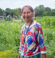 Ying Zheng, 68, has been an educator in the Lansing School District for 25 years. She's maintained the North Elementary School Garden for 23 of those years and has planted several fruit trees there.