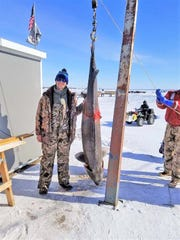 Jonathan Eiden of Appleton harvested the largest fish of the 2019 sturgeon spearing season on the Winnebago System. The fish was registered at Wendt's on the Lake on Feb. 9 and measured 85.5 inches and weighed 171 pounds.