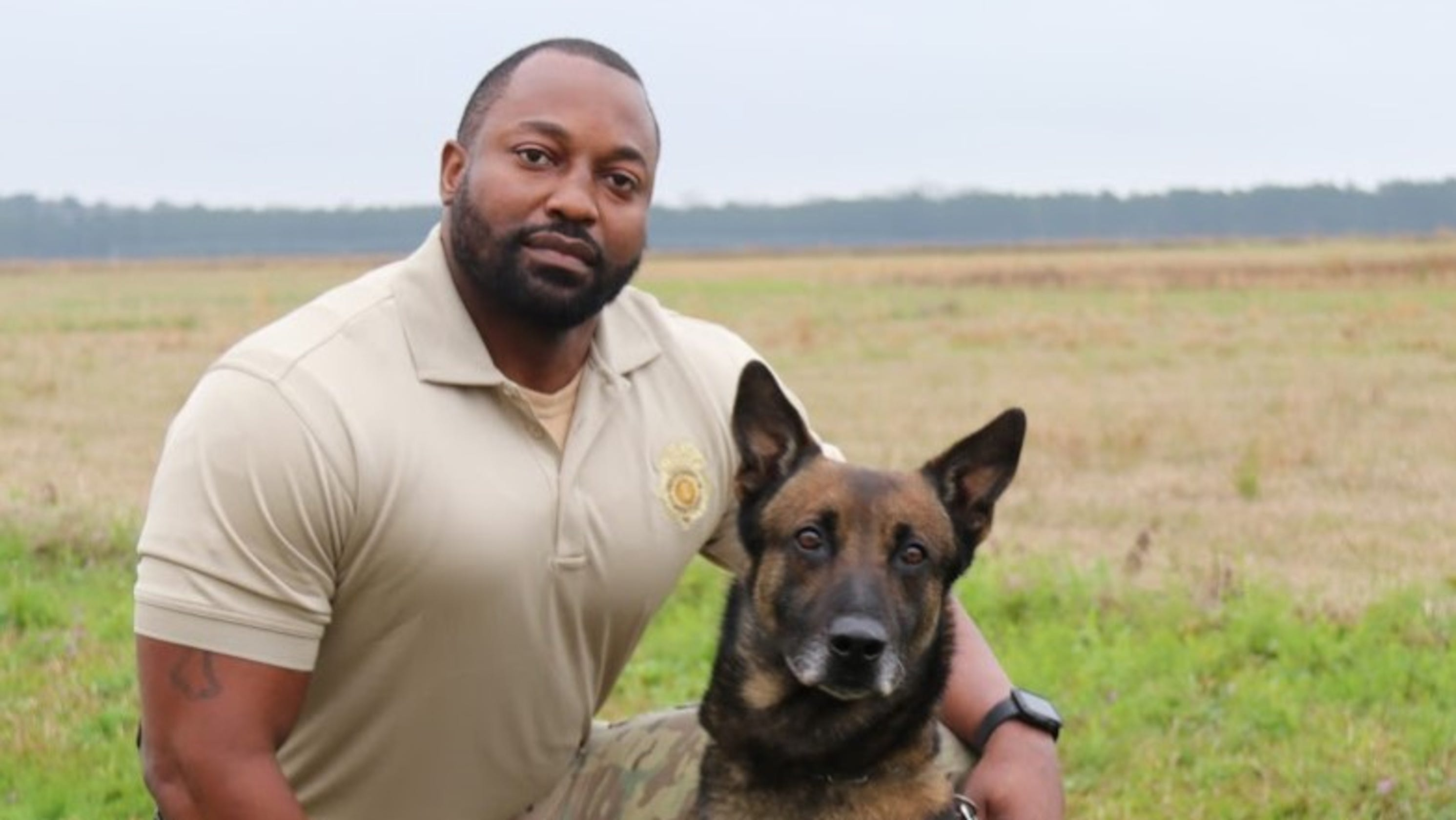 A drug dog had an allergic reaction while sniffing around an Alabama prison and died