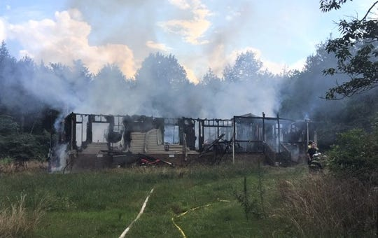 Officials have ruled a fire at a property on Brown's Chapel Road as arson.