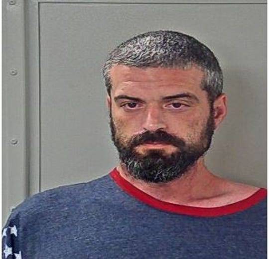 Justin Goostree, 34, was arrested on Sunday, July 21, 2019.