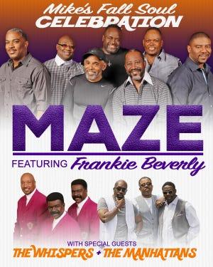 Maze featuring Frankie Beverly will play Bridgestone Arena Oct. 26.