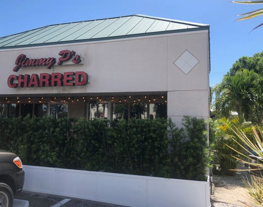 The outside of Jimmy P's Charred in Naples, Florida. On July 12, a mystery diner picked up the tab of a woman's meal.