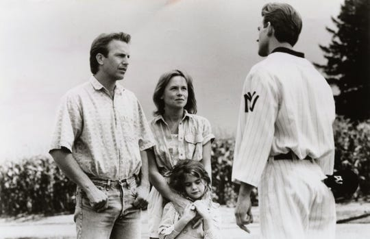 "Kevin Costner (left) was the star of the movie ""Field of Dreams."""