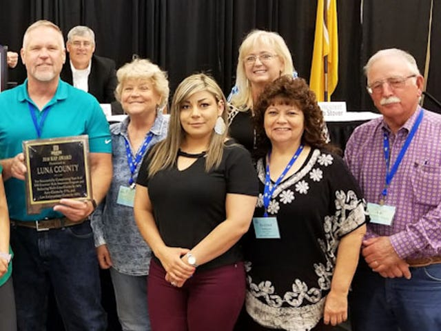 Luna County receives Risk Awareness Award as a safe work place