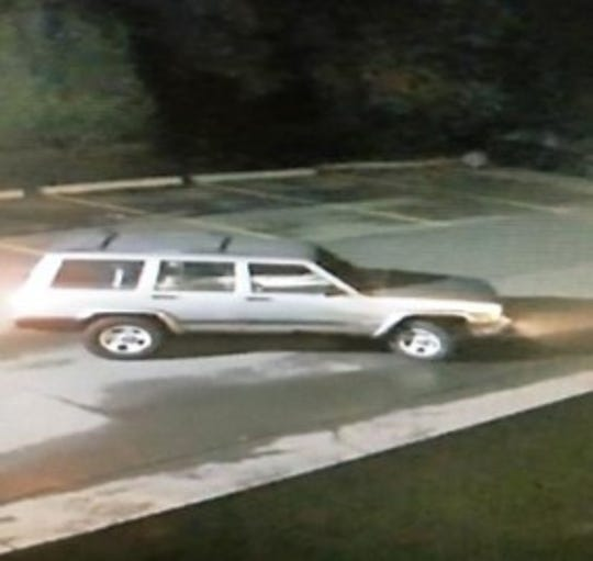A security camera captured an image of the Jeep Cherokee suspected as an escape vehicle from a recent burglary at Andiamo Ristorante in Bloomfield Township.