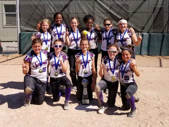 Plymouth-Canton youth softball team wins league championship