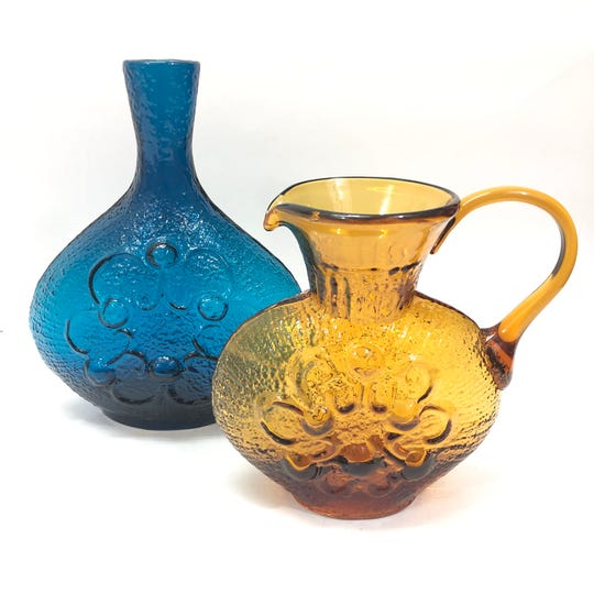 Textured glass pieces like these have a specialized appeal.