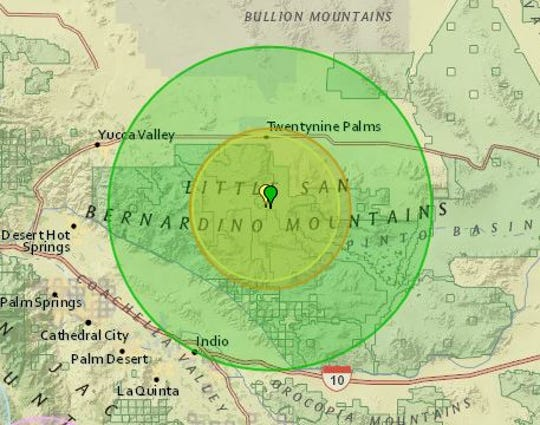 Monday's earthquake and aftershocks were centered south of Twentynine Palms in Joshua Tree National Park.