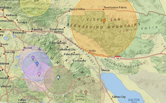 Monday morning's earthquake was centered south of Twentynine Palms.