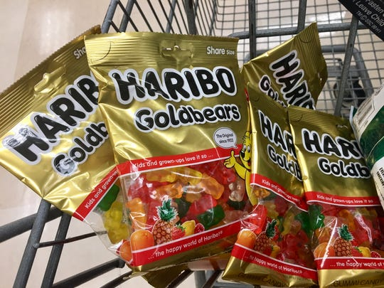 The best gummy bears go on sale at Fry's for $1 a bag, and I load up.