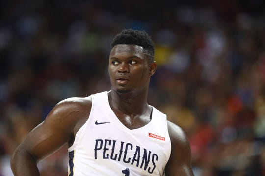 No. 1 overall pick Zion Williamson suffered a knee injury during an NBA Summer League game at Thomas & Mack Center.
