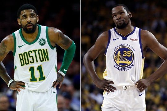On Sunday, June 30, the Brooklyn Nets were the story of the league. They agreed to deals with superstars Kevin Durant and Kyrie Irving as part of a sensational start to free agency, giving the longtime No. 2 team in New York top billing in the Big Apple. (AP Photo/File)