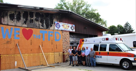 Following a fire at theTivoli Fire Department headquarters, Mobile Life Support Services donated an ambulance to replace one damaged in the blaze.
