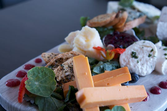 A cheese board from Rattlesnake Club in the remade Arlington Gardens Mall on West Plumb Lane in Reno.
