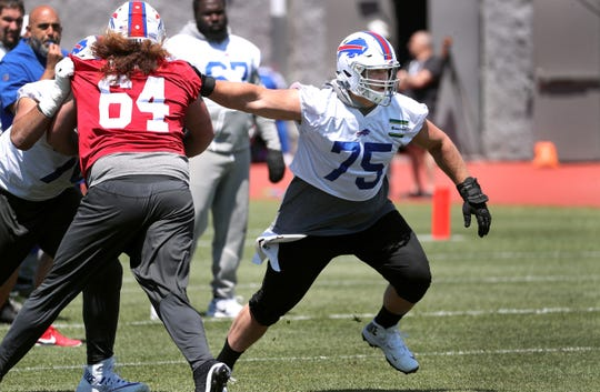 Bills offensive lineman Wyatt Teller during minicamp.