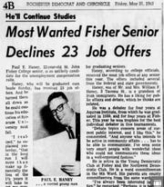 Paul Haney made headlines as a college senior in 1963 for turning down 23 job offers.