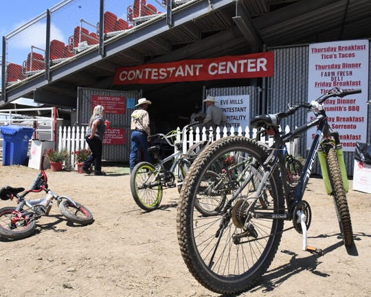 The Contestant Center at the California Rodeo Salinas serves meals and snacks donated from local businesses, while also providing a play area for rodeo performers and their families. July 21, 2019.