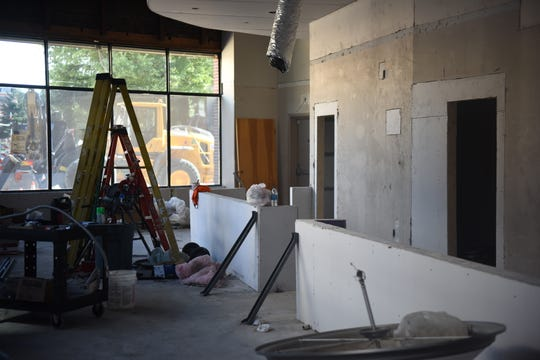 Soon to be the home of Angello's Scoops, an incoming ice cream and gift shop, construction continues on the first floor of the One Plaza East building at 100 E. Main St., in Salisbury, Maryland, on July 22, 2019.