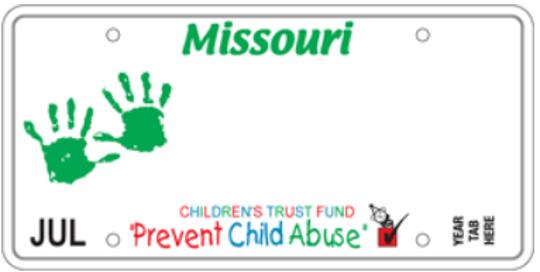 Missouri's Children's Trust Fund specialty license plate