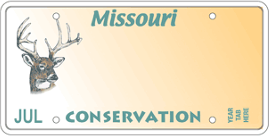 Missouri's Conservation Heritage Foundation deer specialty license plate