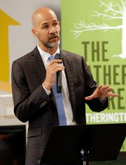 Attorney Ben Stringer spoke Monday about the federal lawsuit filed by The Gathering Tree and Eden Village against the City of Springfield.