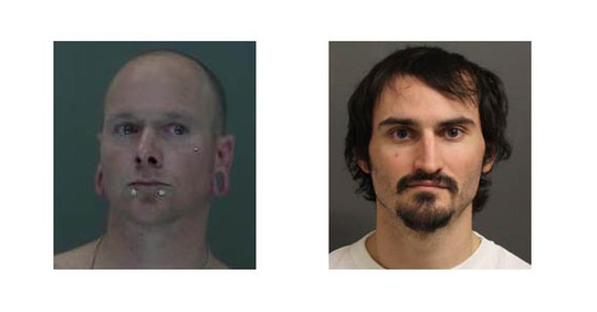 Craig Dennis Rapp, left, and Coda Lee Johnson, right, are charged with burglary in connection to a September incident in Kandiyohi County.