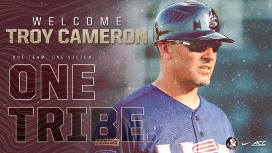 FSU softball announced St. Thomas Aquinas baseball coach Troy Cameron as its next assistant coach Monday.
