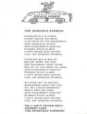 """The Seminole Express"" poem by Vaughn Mancha."