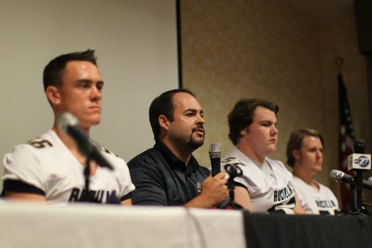 Aucilla Christian head coach Colby Roberts and schools from across Tallahassee and the Big Bend gathered for high school football media day on July 22, 2019.