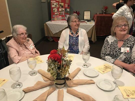 Anne Black, Carole Jo Hardiman and Patti Casey at June 27 celebration.
