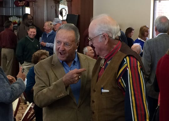 Former Florida State football coach Bobby Bowden, left, with Charlie Durbin.