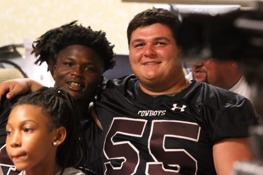 Madison County's Vinsonta Allen and Zac Coe and schools from across Tallahassee and the Big Bend gathered for high school football media day on July 22, 2019.