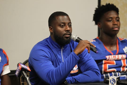 Jefferson County head coach Leroy Smith and schools from across Tallahassee and the Big Bend gathered for high school football media day on July 22, 2019.