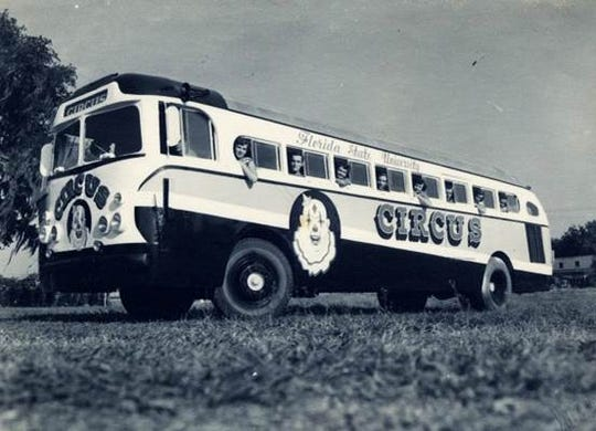 Florida State's circus bus.