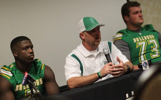 Suwannee head coach Kyler Hall and schools from across Tallahassee and the Big Bend gathered for high school football media day on July 22, 2019.