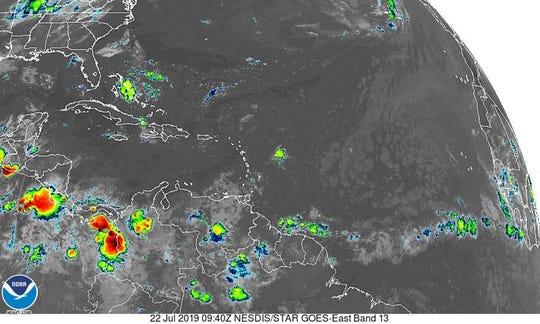 Tropics 6 a.m. July 22, 2019