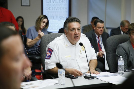 Mario D'Agostino, fire chief of the El Paso Fire Department, during a budget meeting on July 22.