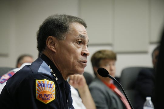 Greg Allen, police chief of the El Paso Police Department, during a budget meeting on July 22.