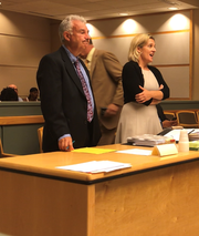 Cumberland County First Assistant Prosecutor Harold Shapiro (left) and Assistant Prosecutor Elizabeth Vogelsong contested delaying the arraignment of Nakira M. Griner on Monday. Griner is charged with killing her toddler son in February.