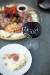 Enjoy some cheese with your wine at Marcari Vineyards, on Long Island, New York.