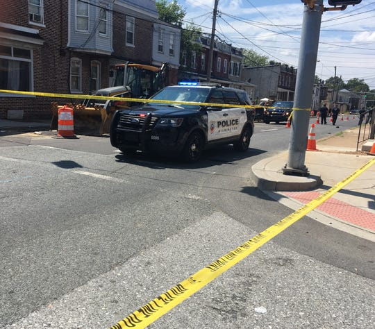 Wilmington Police responding to a shooting on W. 2nd Street.