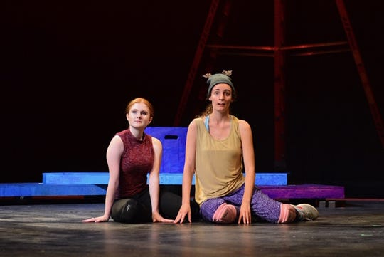 """The Fox (Marie Smithwick) and the little prince (Katherine Holobinko) in Rachel Portman's opera """"The Little Prince"""" to be performed at 2:30 p.m. Saturday July 27 in the Fain Fine Arts Theatre in Midwestern State University."""