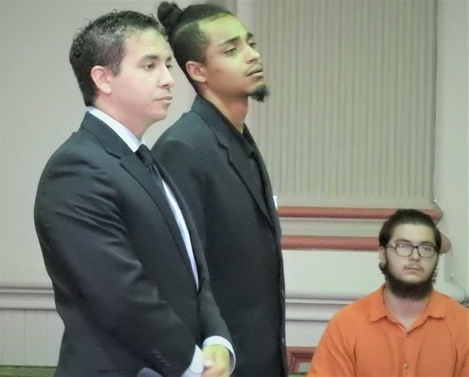 Dominique Harris, represented by attorney Edward Itayim, was sentenced to 30 months in prison Wednesday for tampering with evidence that was critical in the investigation of a 2017 overdose death.