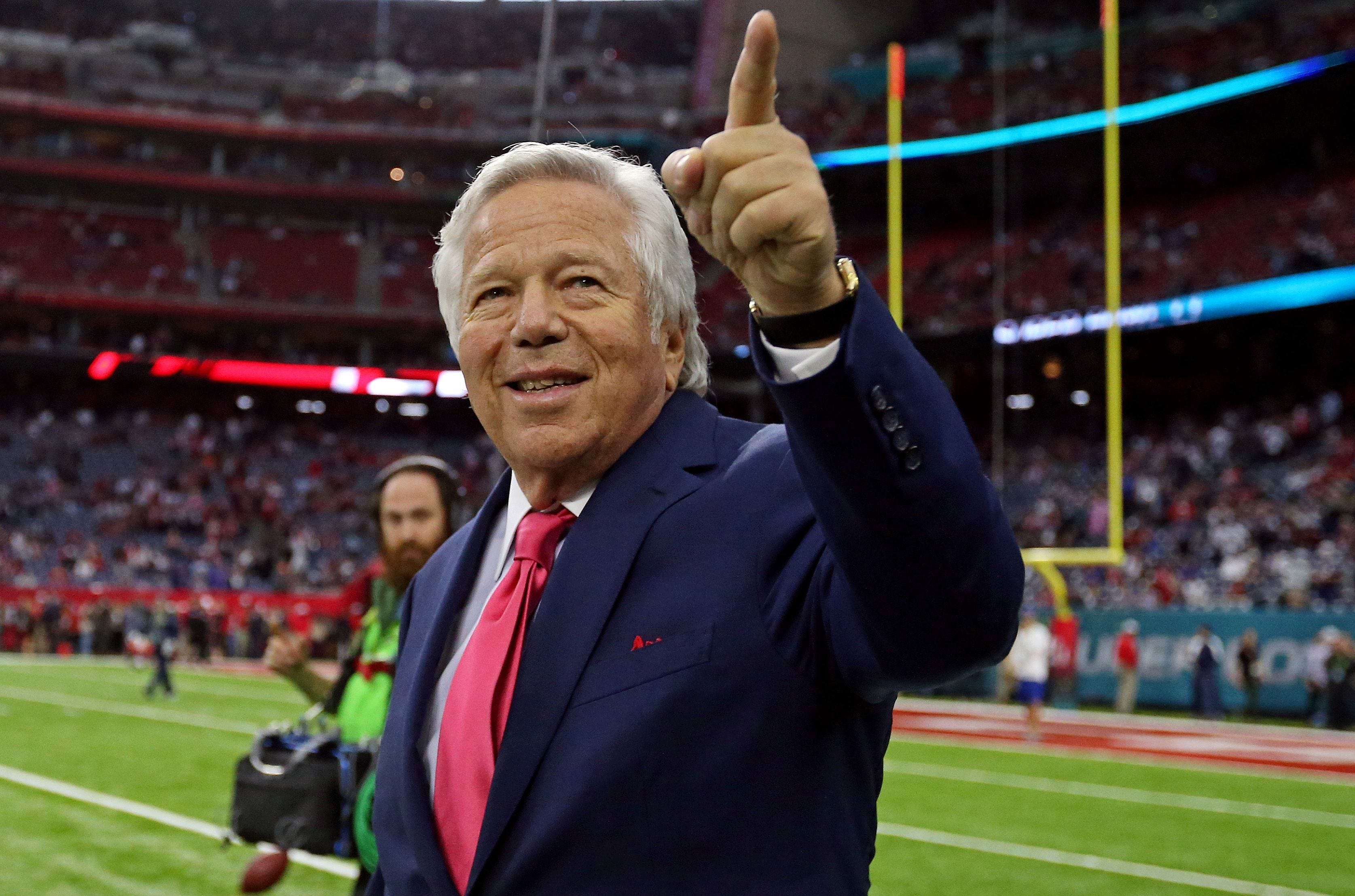 New England owner Robert Kraft faces misdemeanor solicitation charges in Palm Beach County after police say he twice paid for sex acts at Orchids of Asia Day Spa in January.