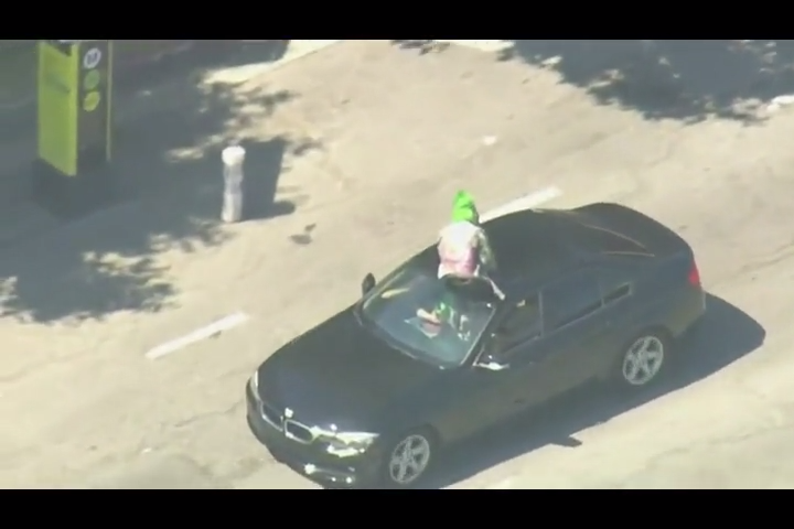 This police chase was odd and entertaining