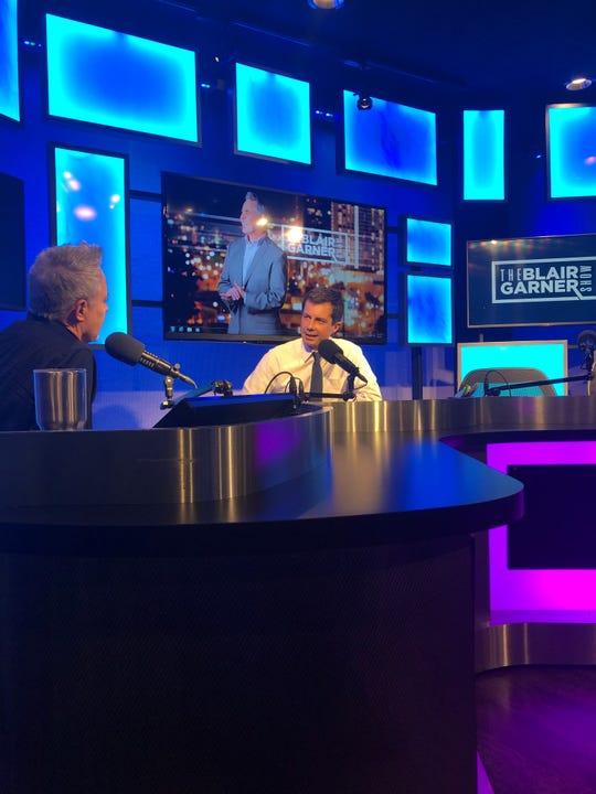Blair Garner and Mayor Pete Buttigieg in Nashville, Tennessee, on July 17, 2019.