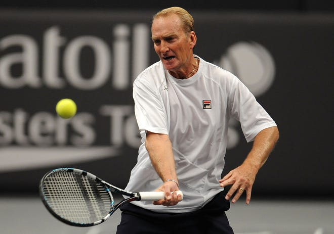 Peter McNamara, shown here during a Masters tennis event in London in 2012,  was one of the great Australian tennis players on the late 1970s and early 1980s.