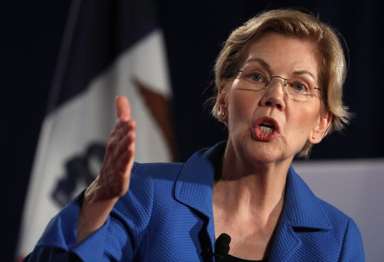 Democratic presidential hopeful U.S. Sen. Elizabeth Warren (D-MA) speaks during the AARP and The Des Moines Register Iowa Presidential Candidate Forum on July 19, 2019 in Sioux City, Iowa.